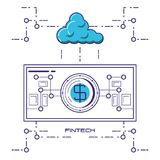 Financial technology set icons. Vector illustration design Stock Photography