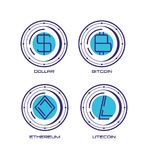 Financial technology set icons. Vector illustration design Stock Image