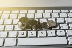 Financial and technology transactions royalty free stock photo