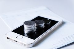 Financial and technology transactions royalty free stock images