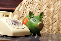 Financial Telephone Support Stock Photography