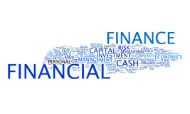 Financial text cloud. An image of a nice financial text cloud Stock Photos