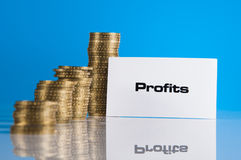 Financial theme with business stuff Royalty Free Stock Image