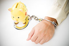 Financial tied up Stock Image