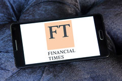 Financial Times logo Obraz Stock