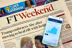 Financial Times newspaper. Stock Images
