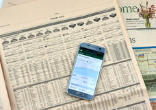 Financial Times newspaper. Royalty Free Stock Images