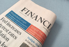 Financial Times royalty free stock image