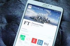 Financial Times wisząca ozdoba app Zdjęcie Stock