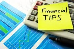 Financial Tips. Royalty Free Stock Photos