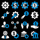 Financial tools and options icon set Stock Photo