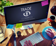 Financial Trade Economics Financial Graphic Concept. Financial Trade Economics Financial Graphic royalty free stock images