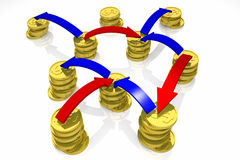 Financial transactions. 3d render Stock Photography