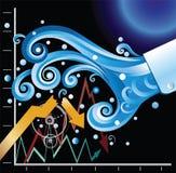 Financial Tsunami. The financial tsunami causing the stock market crash Stock Images