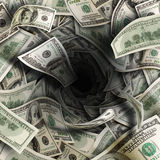 Financial tunnel Royalty Free Stock Photo