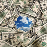 Financial tunnel Royalty Free Stock Image