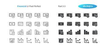 Financial UI Pixel Perfect Well-crafted Vector Thin Line And Solid Icons 30 2x Grid for Web Graphics and Apps. Simple Minimal Pictogram Part 3-3 Stock Photos