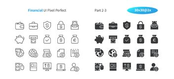 Financial UI Pixel Perfect Well-crafted Vector Thin Line And Solid Icons 30 2x Grid for Web Graphics and Apps. Simple Minimal Pictogram Part 2-3 Royalty Free Stock Image