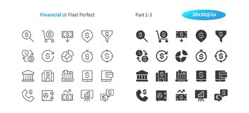 Financial UI Pixel Perfect Well-crafted Vector Thin Line And Solid Icons 30 2x Grid for Web Graphics and Apps. Simple Minimal Pictogram Part 1-3 Royalty Free Stock Image