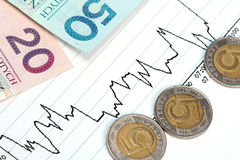 Financial Ups and Downs Stock Photo
