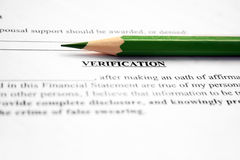 Financial verification Royalty Free Stock Photo