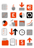 Financial web icon. Set of web financial icons (isolated Royalty Free Stock Photography