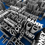 Financial Words 3D. Various Financial Words 3D illustration Stock Photos