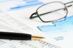 Financial graphs and charts accounting Royalty Free Stock Image