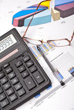 Financial work. Royalty Free Stock Photo