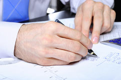 Financial work Stock Photography