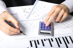 Financial work Royalty Free Stock Image
