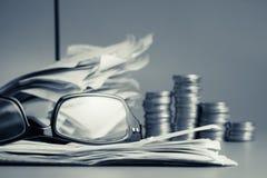 Financial work Stock Photos