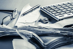 Financial work Royalty Free Stock Images