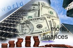 Financial world. Graphical illustration concept for financial world Stock Images