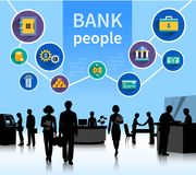 Financial world bank people concept banner Royalty Free Stock Image