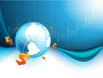 Financial world vector Stock Photo