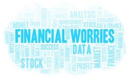 Financial Worries word cloud. stock illustration