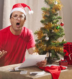 Financial Xmas Stress royalty free stock images