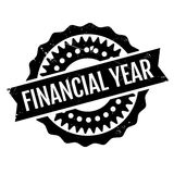Financial Year rubber stamp. Grunge design with dust scratches. Effects can be easily removed for a clean, crisp look. Color is easily changed Stock Photo