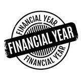 Financial Year rubber stamp. Grunge design with dust scratches. Effects can be easily removed for a clean, crisp look. Color is easily changed Stock Photography