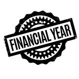 Financial Year rubber stamp. Grunge design with dust scratches. Effects can be easily removed for a clean, crisp look. Color is easily changed Stock Photos