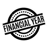 Financial Year rubber stamp. Grunge design with dust scratches. Effects can be easily removed for a clean, crisp look. Color is easily changed Stock Image