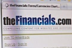 financials Arkivbilder
