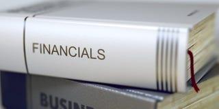 Financialsconcept op Boektitel 3d Royalty-vrije Stock Fotografie