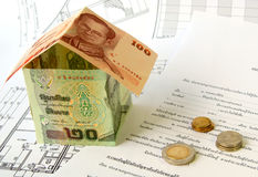 Financiamento do housebuilding Foto de Stock