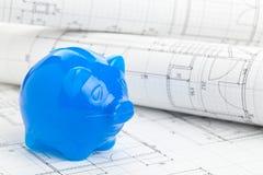 Financiamiento de construcción casero foto de archivo