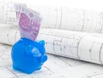 Financiamiento de construcción casero foto de archivo libre de regalías