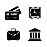 Financical. Simple Related Vector Icons. Set for Video, Mobile Apps, Web Sites, Print Projects and Your Design. Black Flat Illustration on White Background Stock Images