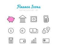 Financical symbolsuppsättning royaltyfri illustrationer