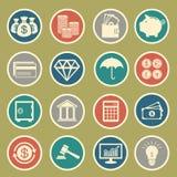Financie ícones Fotografia de Stock